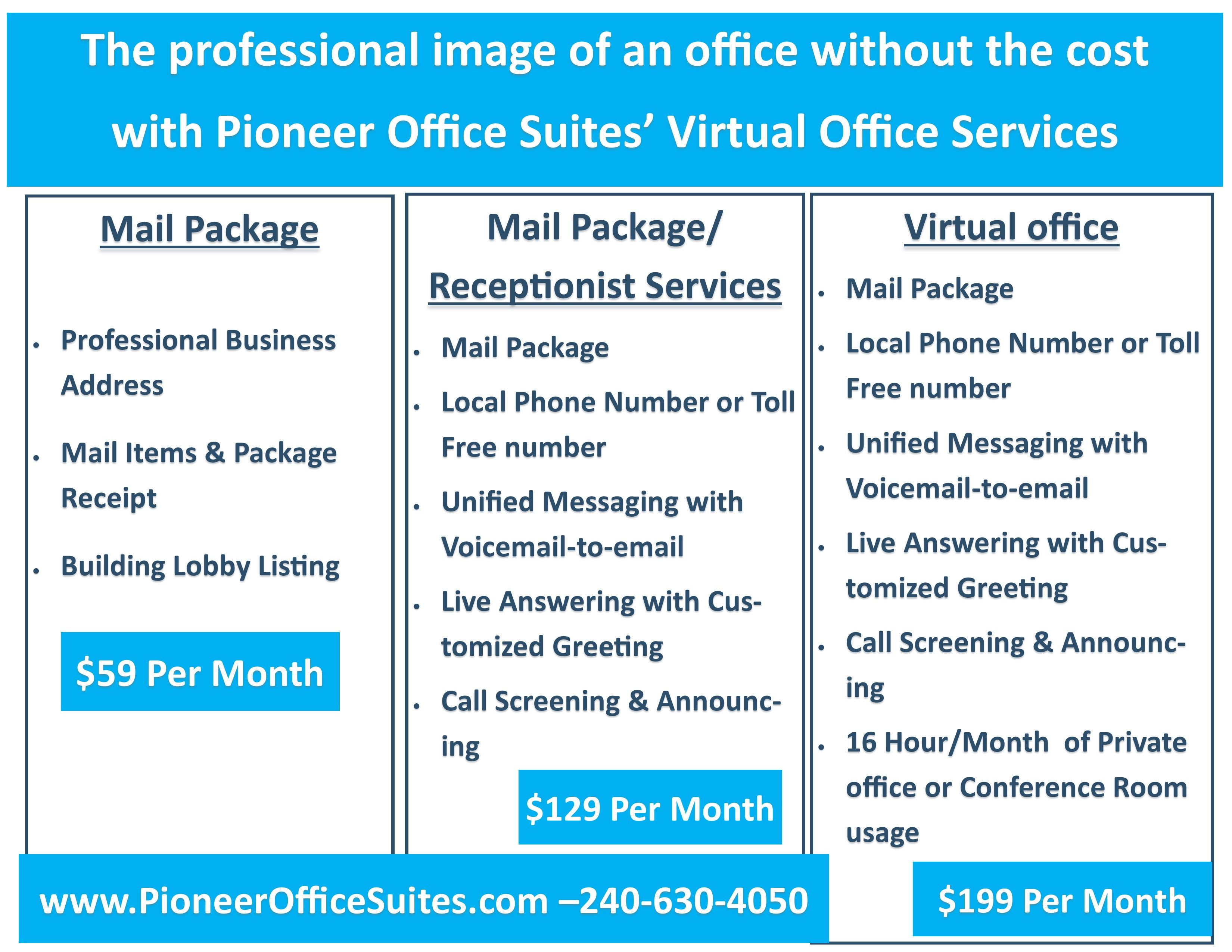 Virtual Office Solutions at Pioneer Office Suites! Business