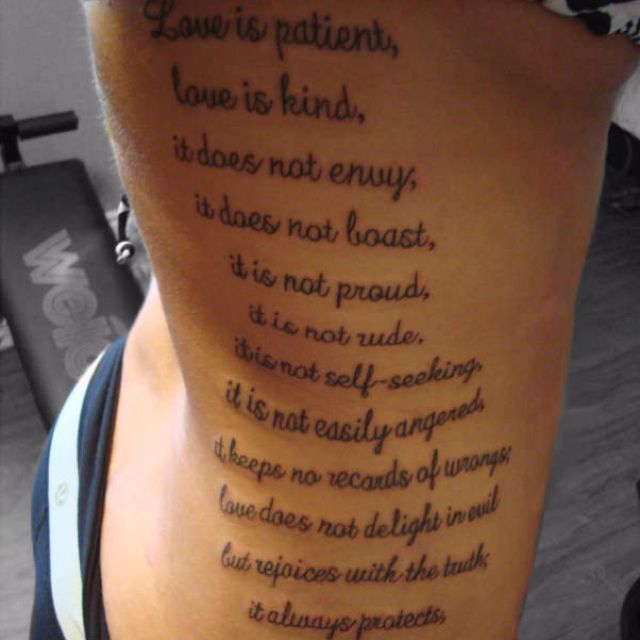 1 Corinthians 13 Verse Tattoos Tattoos Bible Verse Tattoos