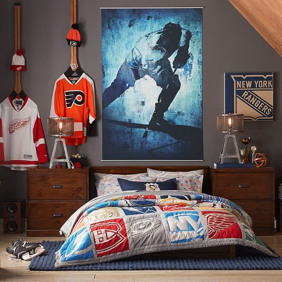 Nhl 174 Wall Art 23 Quot X23 Quot Pbteen Hockey Bedroom Decor Boys Room Wall Art Boys Room Decor