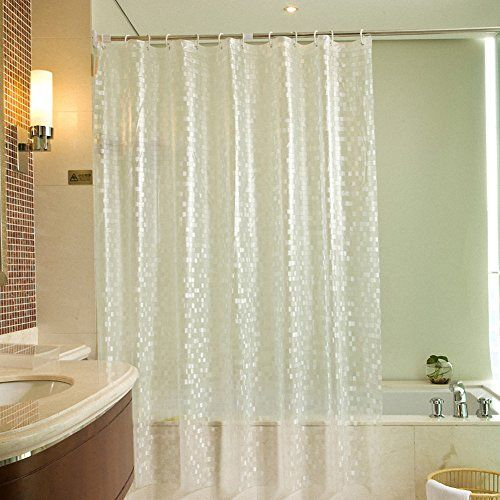 Waterproof Bathroom Shower Curtain Flower Plastic EVA Curtains With Ring Hooks