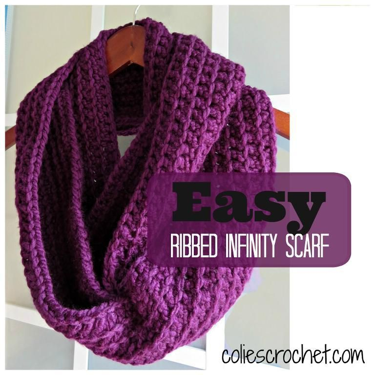 30 Minute Infinity Scarves Patterns To Crochet Crochet Infinity