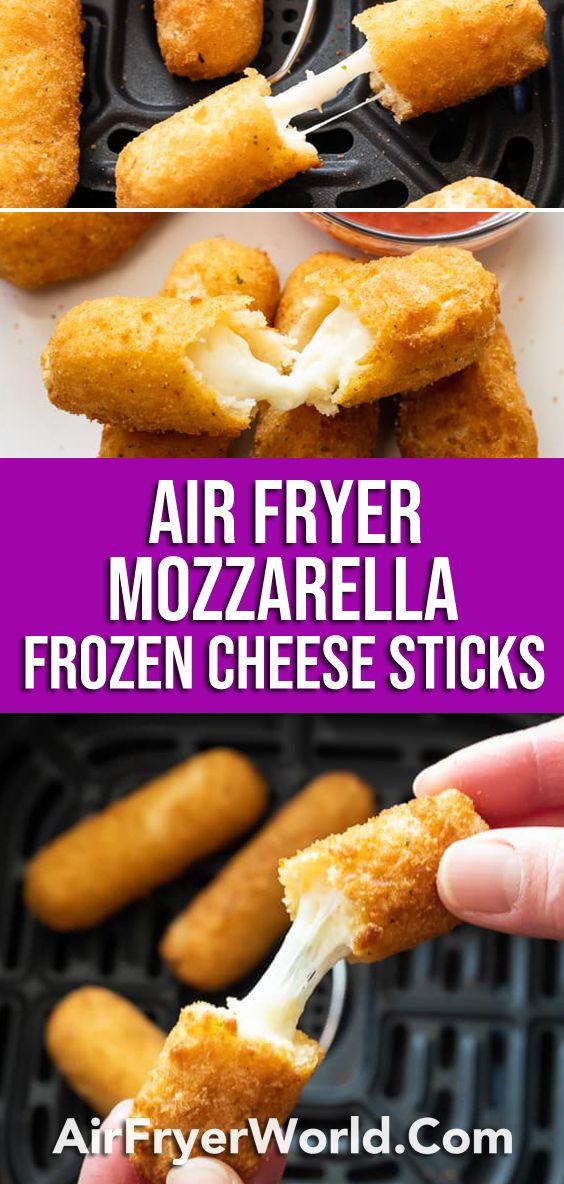 Air Fryer Mozzarella Sticks From Frozen Cheese Sticks