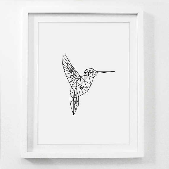 Geometric animal hummingbird print printable nursery art printable artwork for your home or office works great for just about any print size 3 ways to print your artwork print from your home printer send to gumiabroncs Gallery