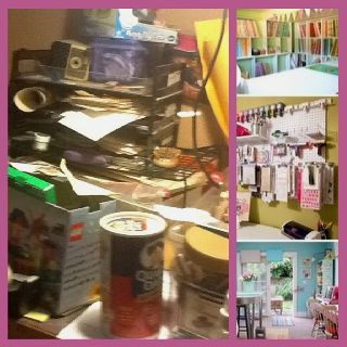 There are so many pins of perfect looking craft rooms, so I decided to pin my craft corner which is most likely more typical.lol