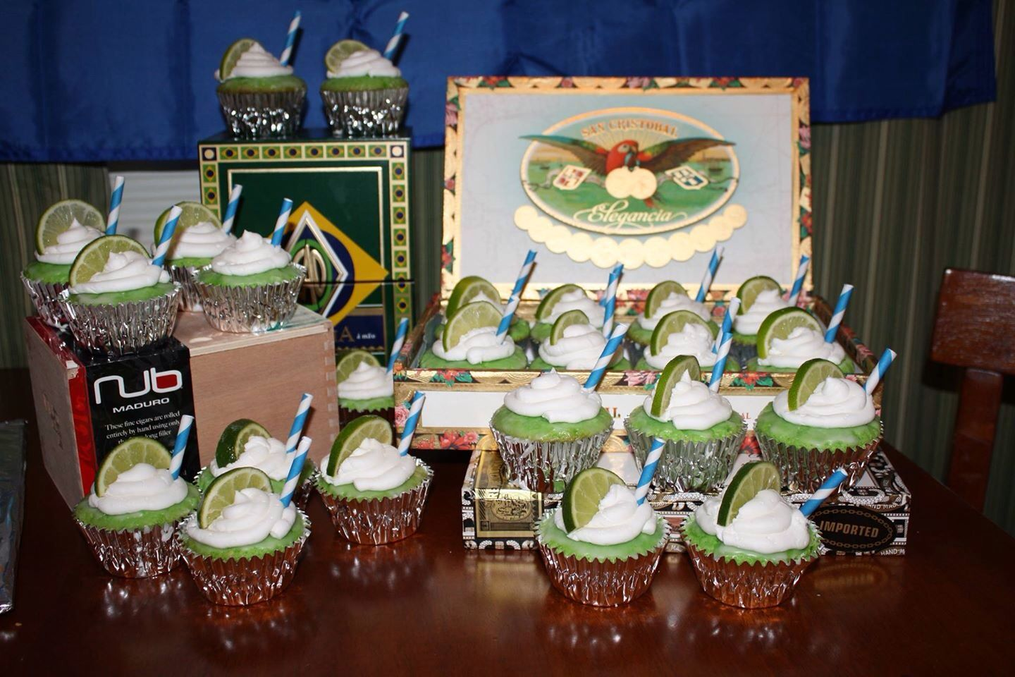 Havana Nights Party Cupcakes