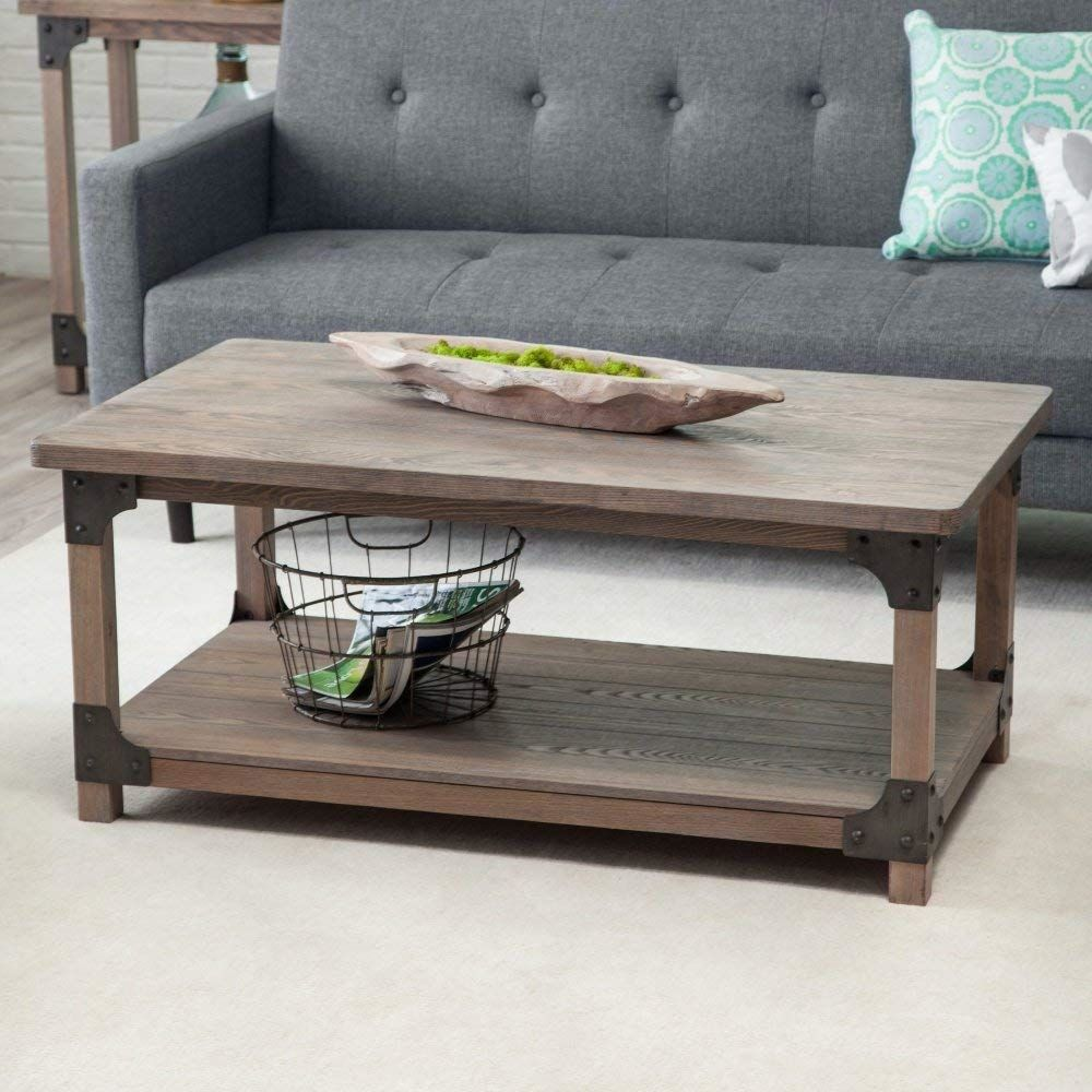 Rustic Unique Driftwood Coffee Tables Rectangle Cocktail Living