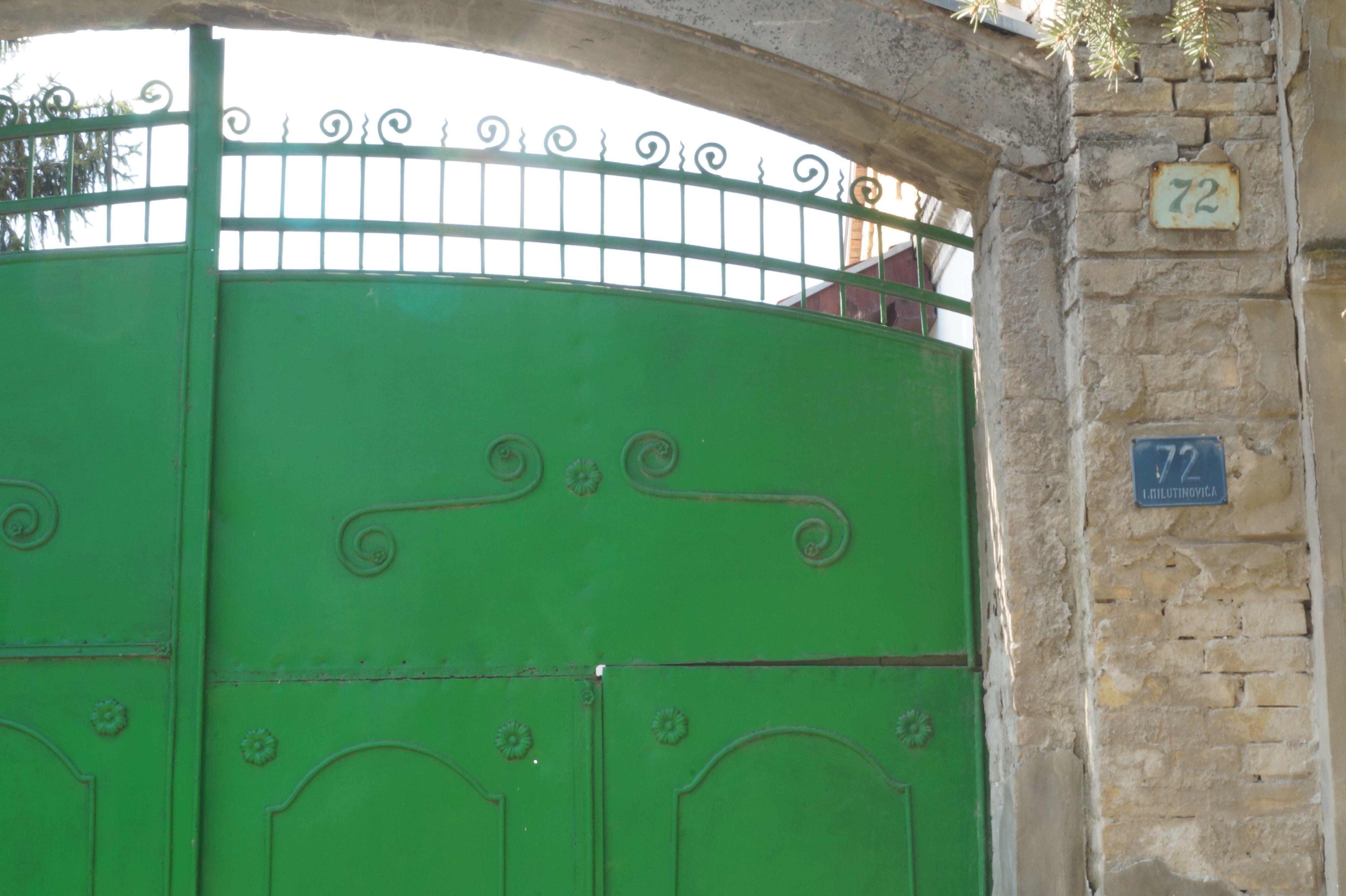 Apple green door!