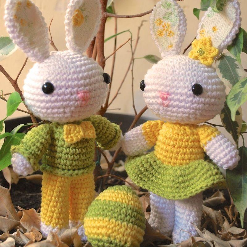 Patrón Conejos de Pascua | Amigurumi | Pinterest | Conejo de pascua ...