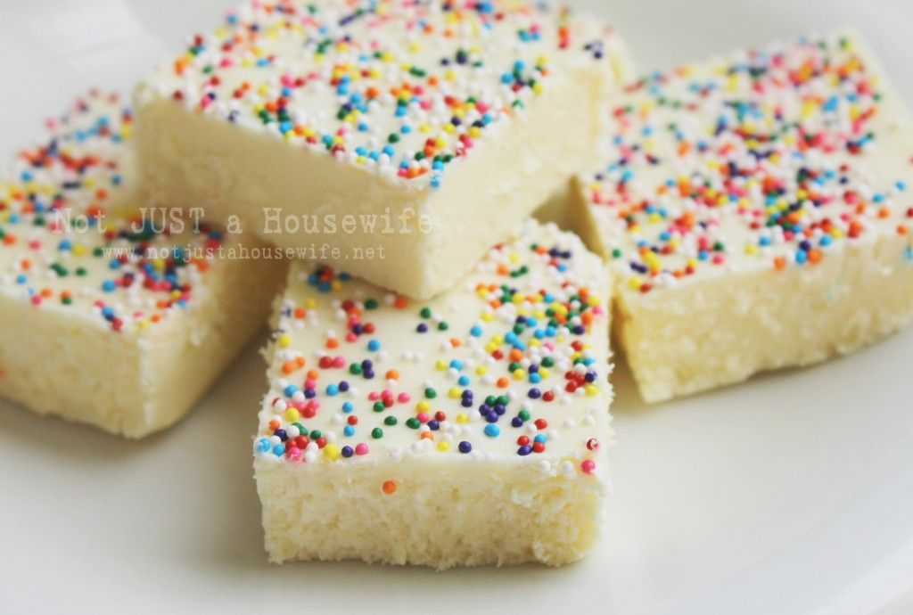 Cake Batter Fudge (from Not Just A Housewife)