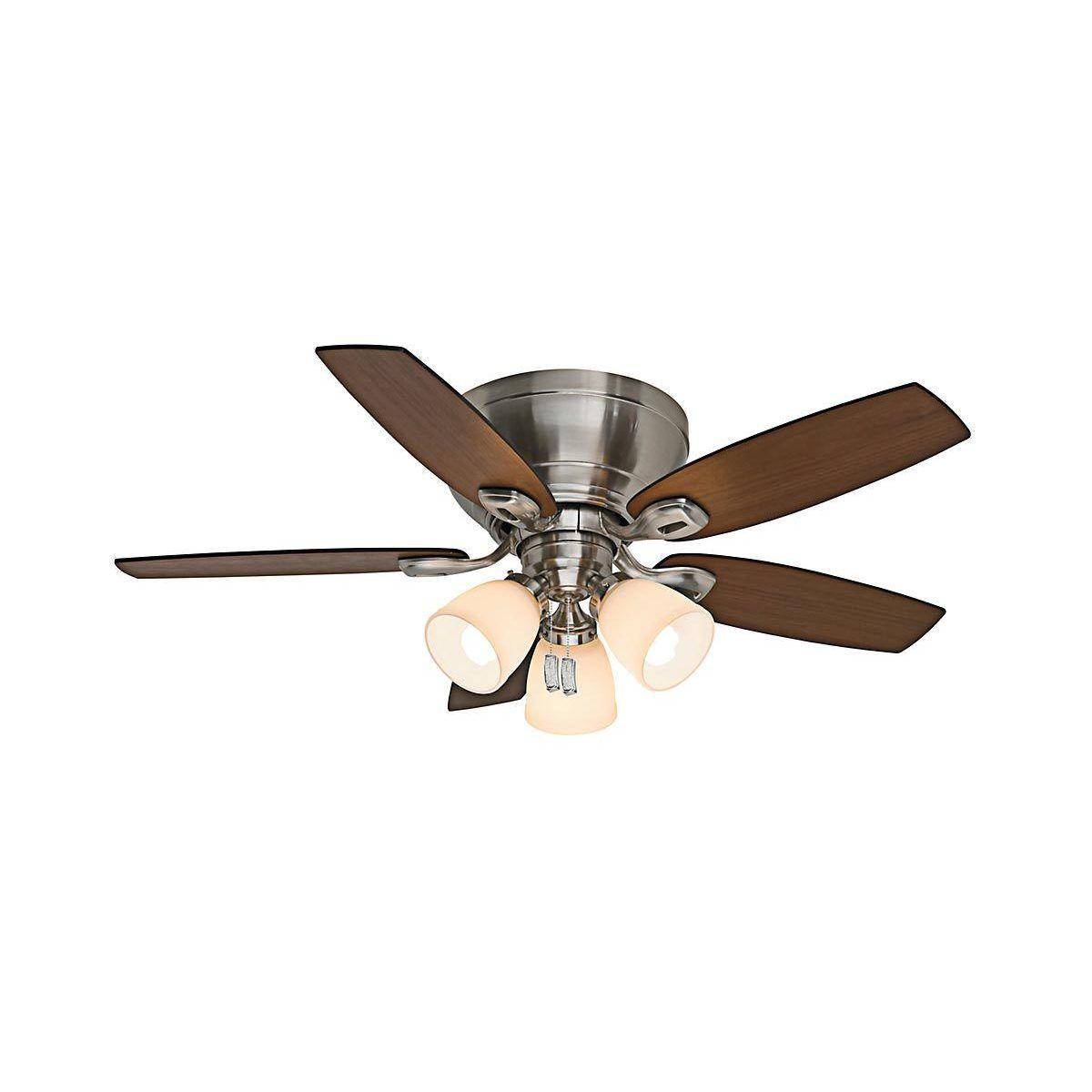 Casablanca 44 Inch Durant Low Profile Brushed Nickel Reversible Blade Ceiling Fan Flush Mount Ceiling Fan Ceiling Fan Brushed Nickel Ceiling Fan