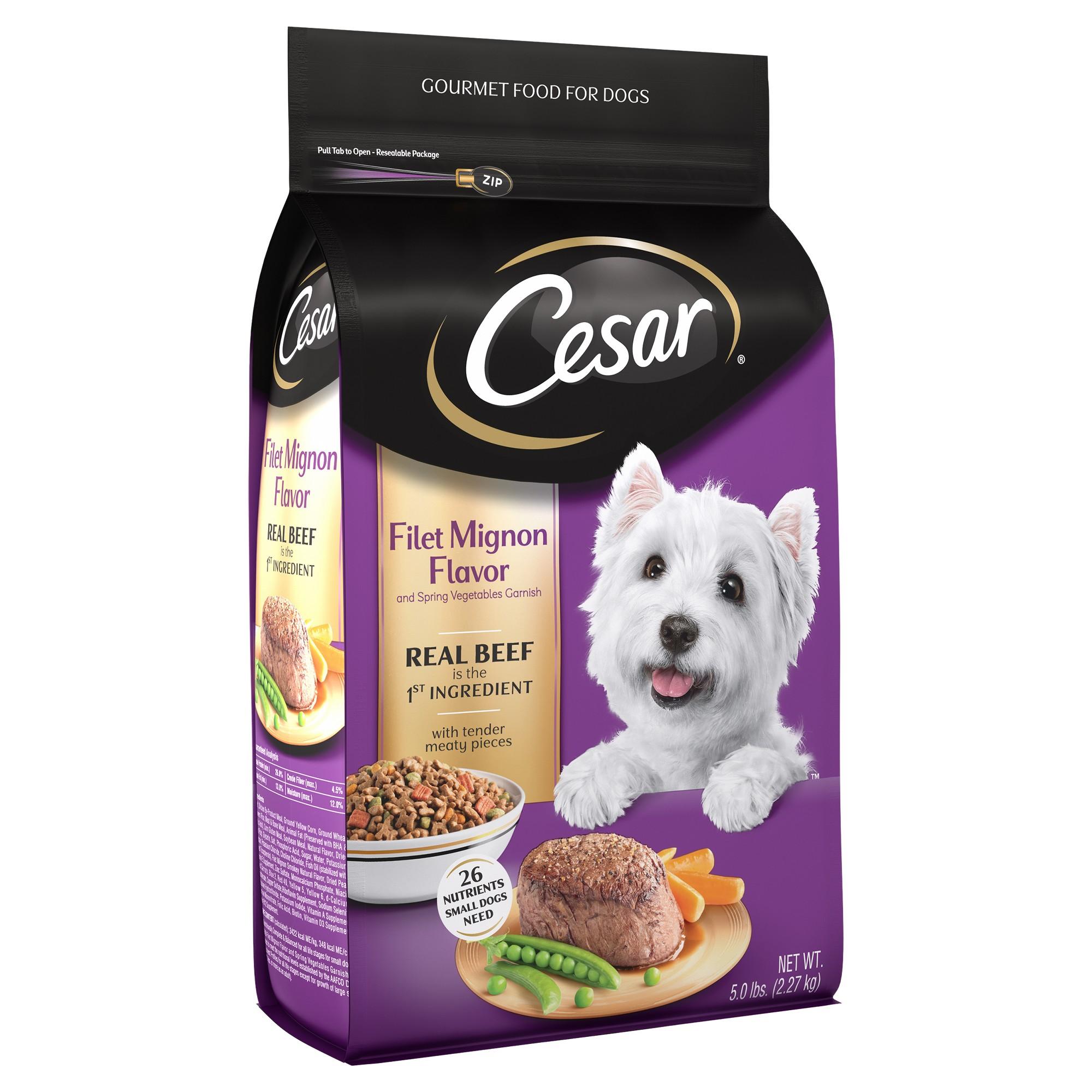 Cesar Filet Mignon Flavor With Spring Vegetables Dry Dog Food