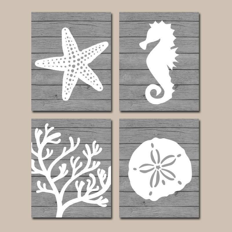 Bathroom Wall Art Canvas Artwork Nautical Coral Reef Ocean: Beach BATHROOM Wall Art, CANVAS Or Prints, Nautical