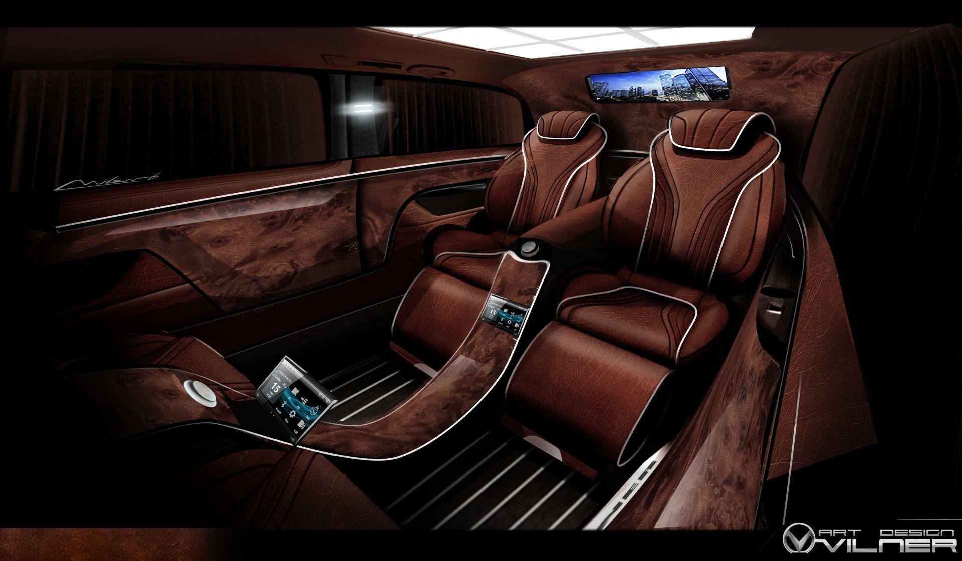 Vilner Mercedes Viano Luxury car interior, Custom car