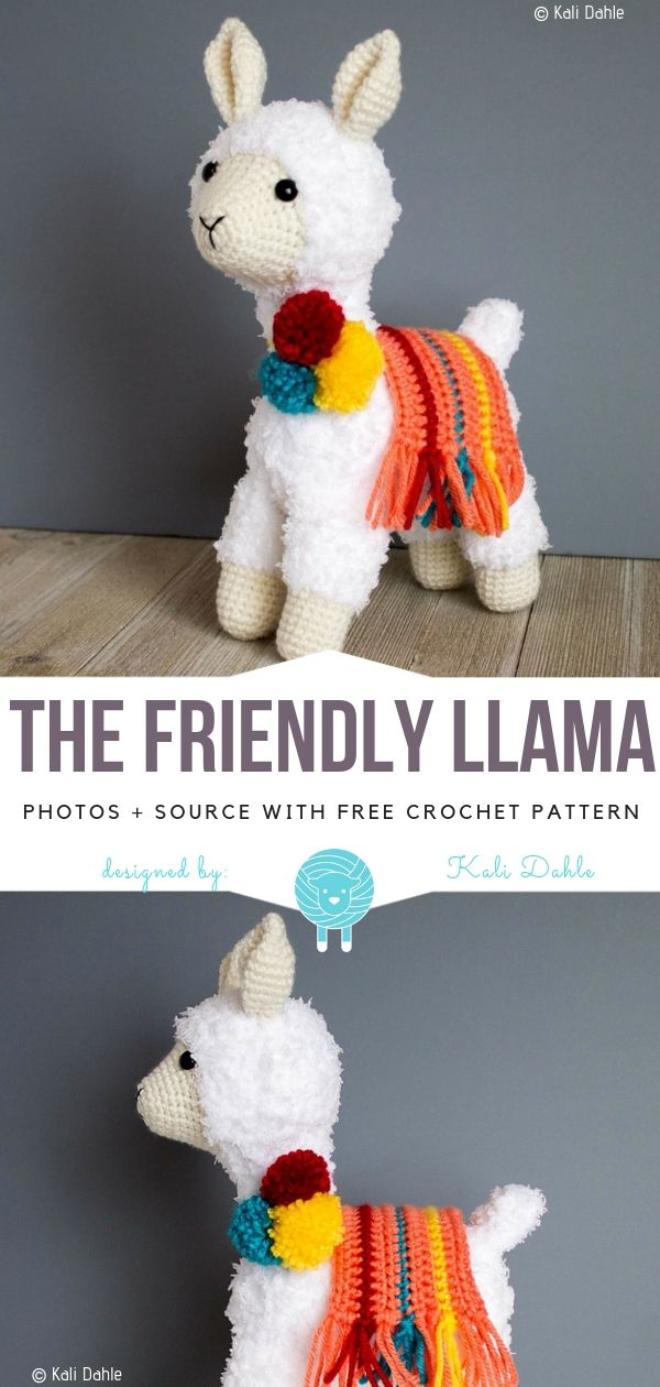 The Friendly Llama Free Crochet Pattern #cutecrochet