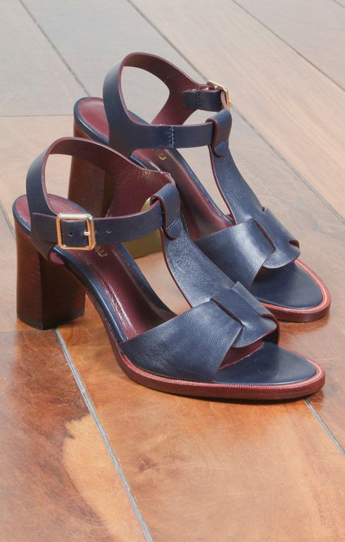 f0e476f9ff3e1 Cat Navy Calf Leather | Sandals | Calf leather, Leather, Calves