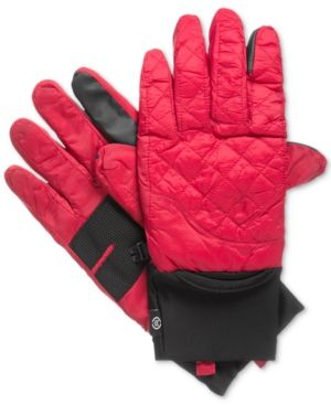 Isotoner Signature Men's Quilted Gloves - Red L/XL