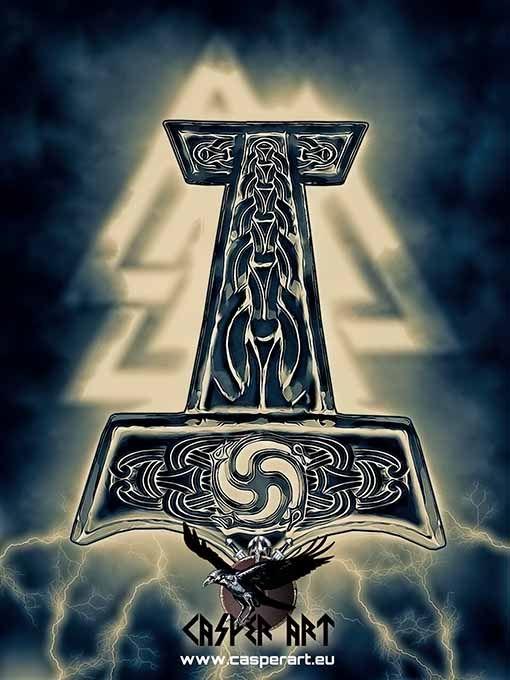 Thor S Hammer Thors Hammer Norse Pagan Nordic Tattoo