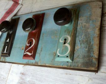 Wall Rack, Door Knob Rack, Old Door Knob Hangers, Reclaimed Wood Coat Rack