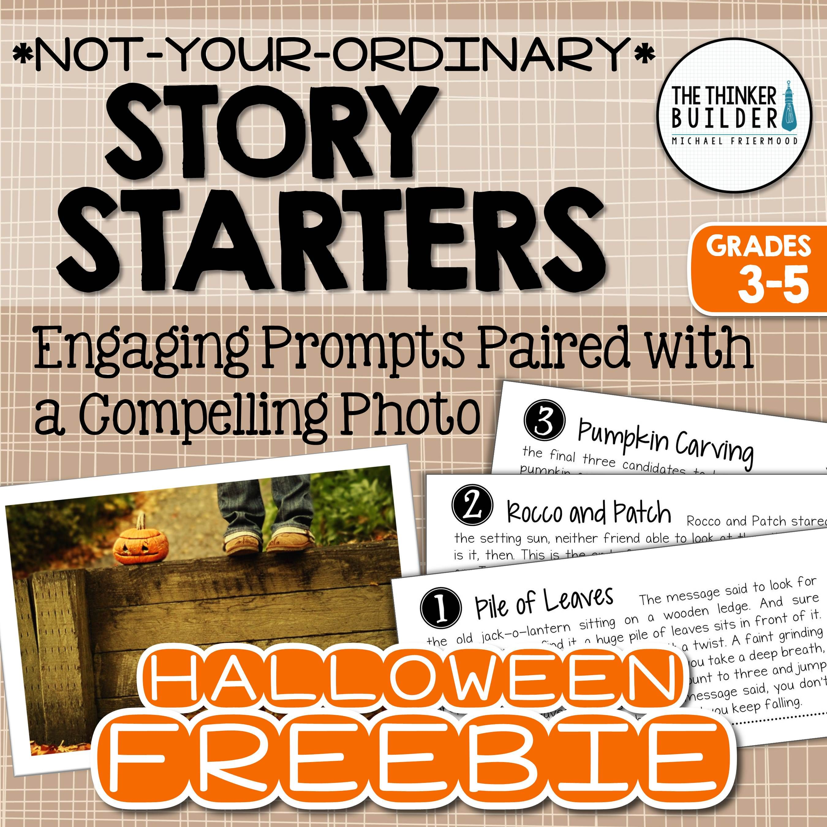 Four engaging story starters for Halloween! Gr 3-5 (TpT Freebie ...