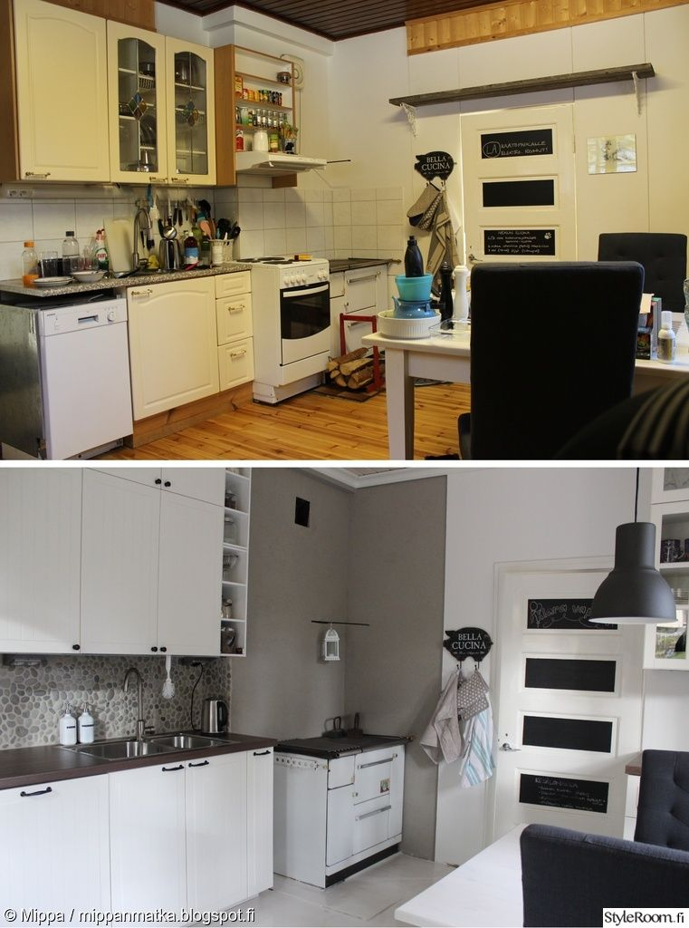 remontti,keittiö,ikea,country,maalaisromanttinen,rouhea,keittiön välitila,jok