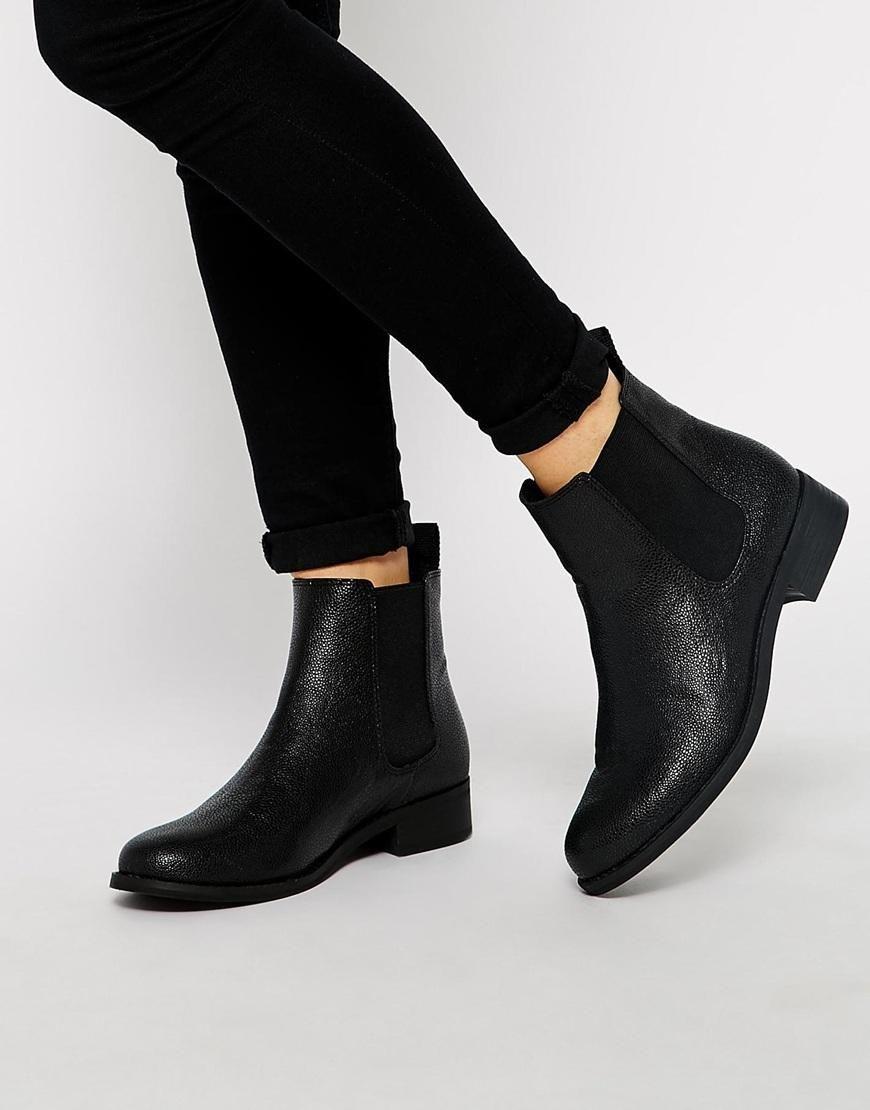 5a96e38bb81c Monki Selina Black Stingray Chelsea Boots