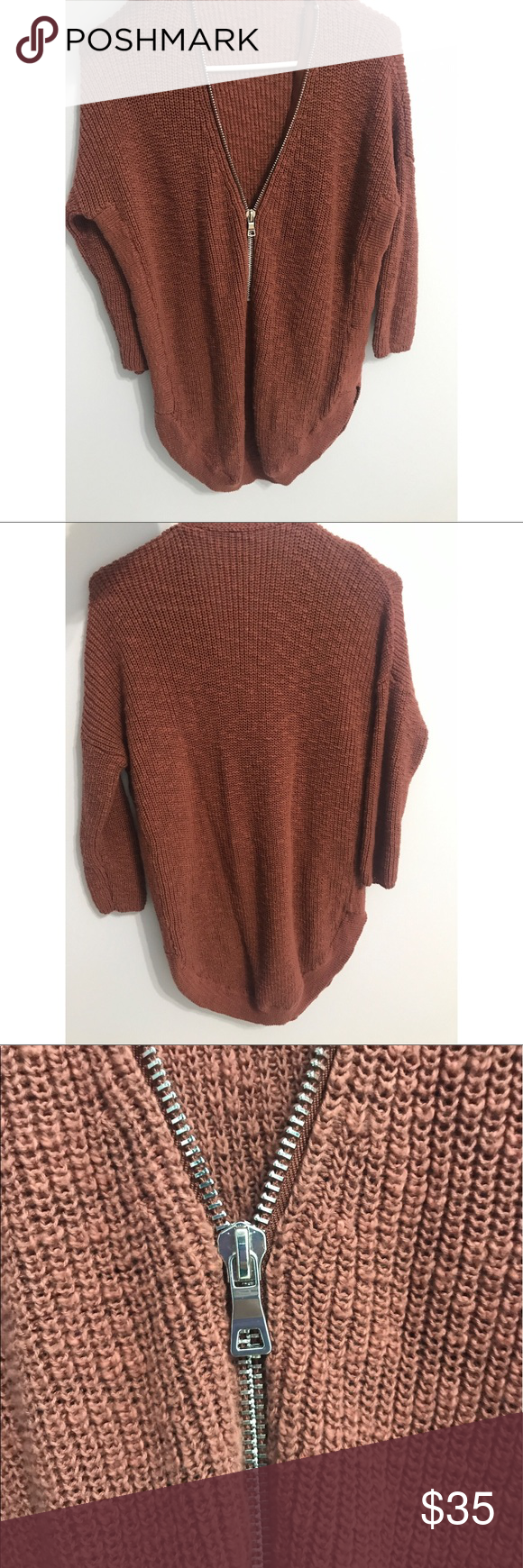Express Oversized Chunky Burnt Orange Sweater Oversized burnt ...
