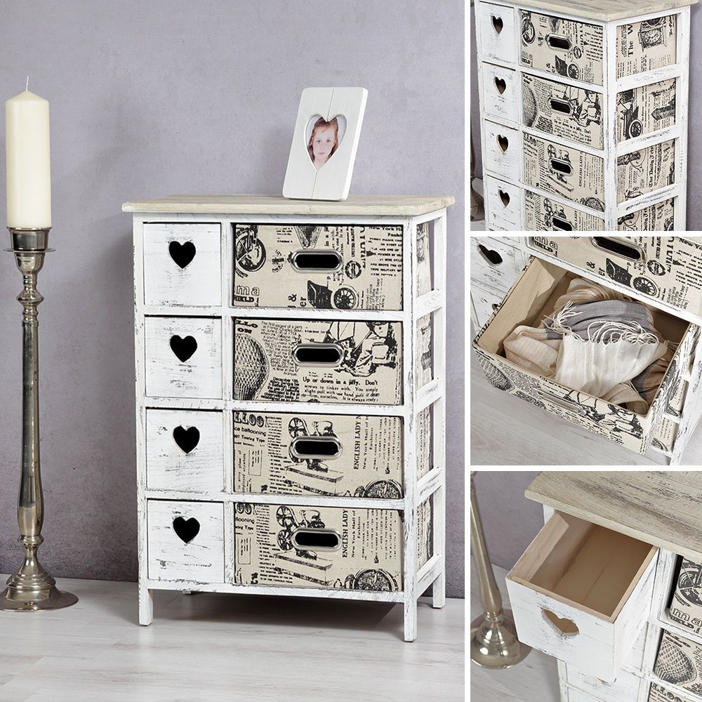 Shabby Chic Sideboard Mit Korbschubladen Schrank Regal Kommode Highboard Diele In Mobel Wohnen Mobel Kommoden Ebay Schrank Regale Schrank Regal