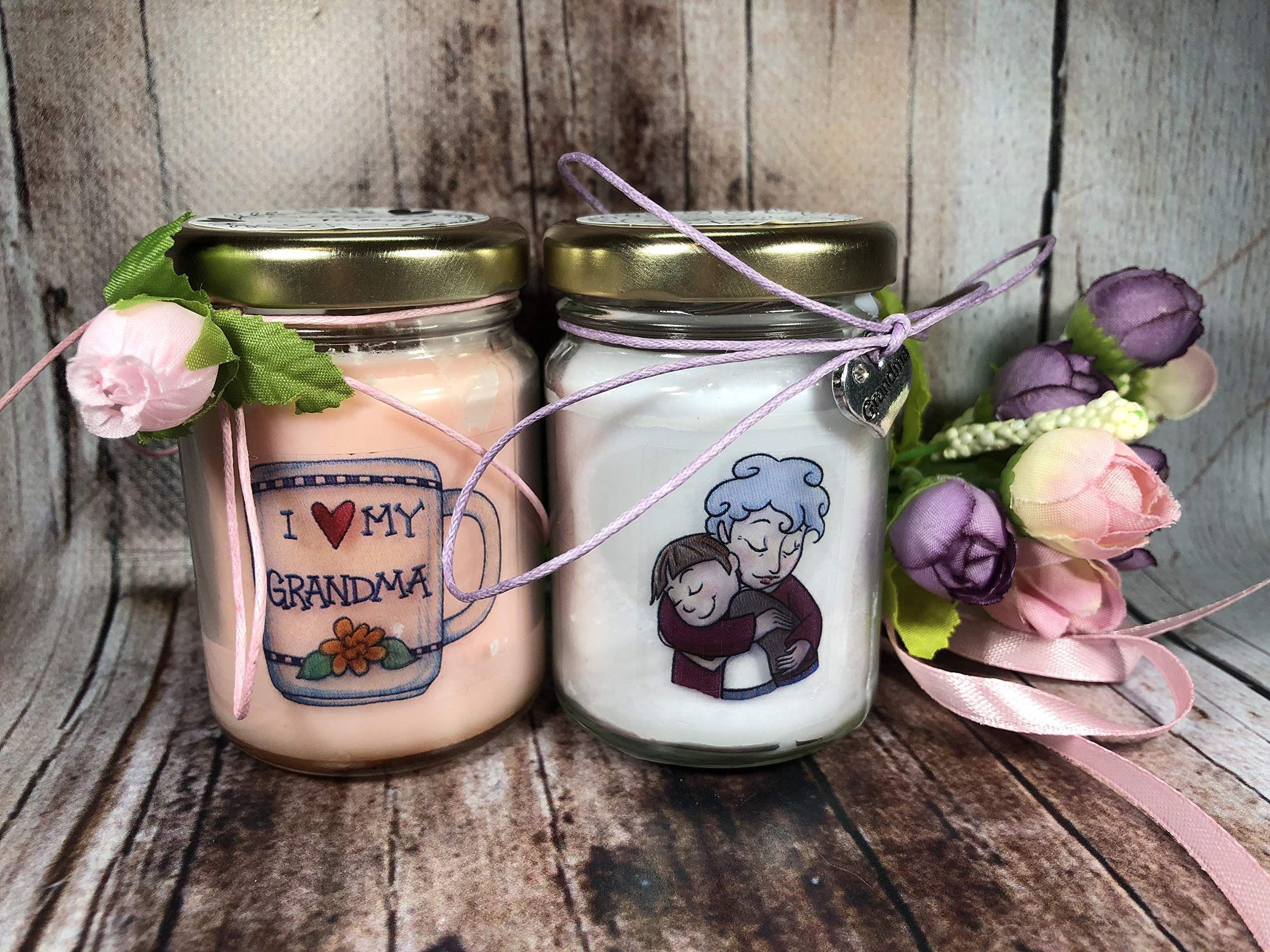 Ti voglio bene Nonna 2 vasetti con candele di cera di soia e oli