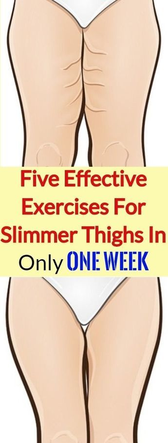 Five Effective Exercises For Slimmer Thighs In Only One Week Exercise Slim Thighs Health And Fitness Articles