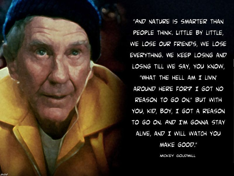 Tribute To Mickey Goldmill Rocky Balboa Quotes Rocky Quotes Boxing Quotes