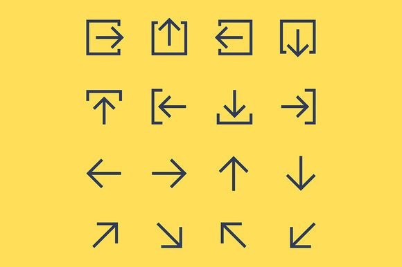 Vector arrow pictogram set by @Graphicsauthor