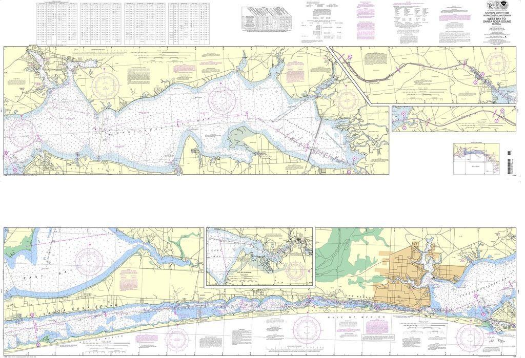 NOAA Nautical Chart 11385: Intracoastal Waterway West Bay to ...