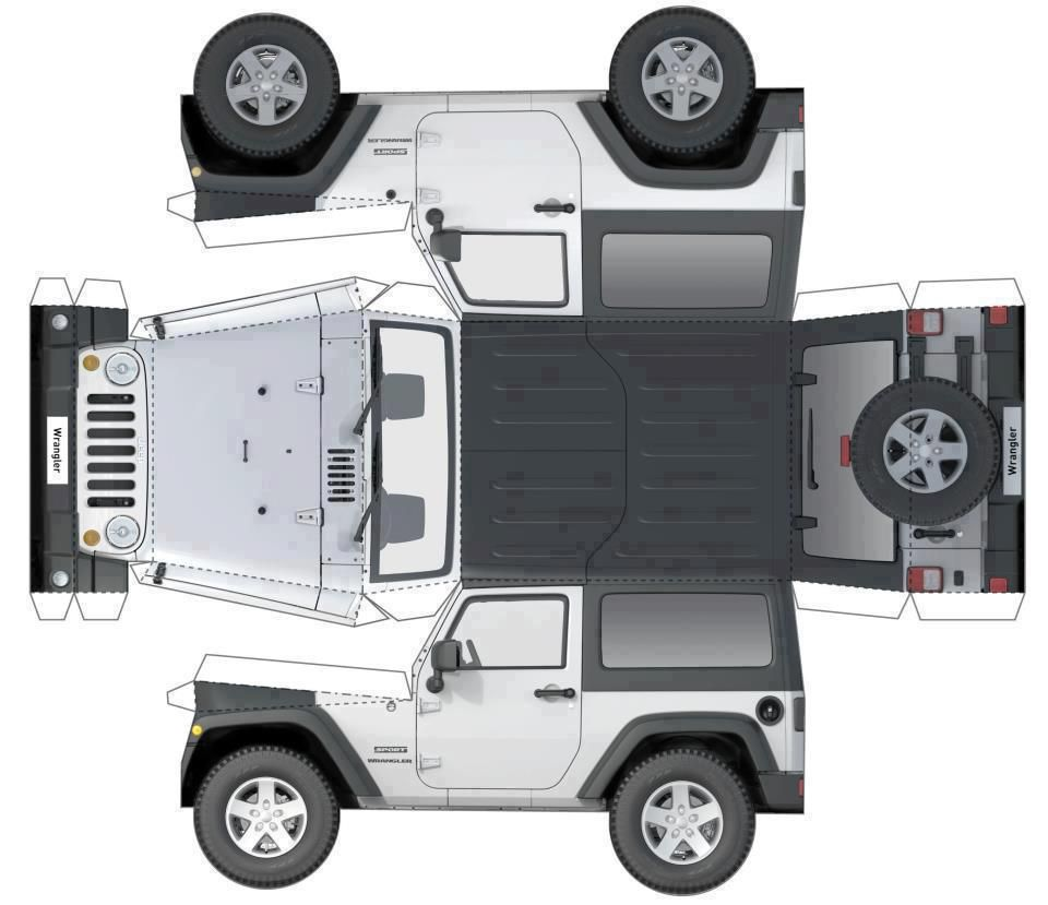My Gift To R Jeep A Free Jk For Everyone Some Assembly Required In 2020 Paper Model Car Paper Models Paper Car