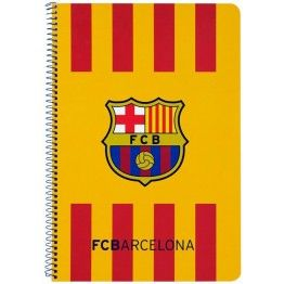 Bloc FC Barcelona cuadriculado Cuaderno tamaño folio del club blaugrana  Tapas duras de cartón 80 hojas con cuadrícula 4x4 Dimensiones  21 8adc91bf09f