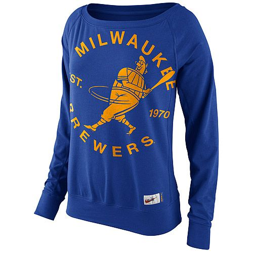 super popular cd6e7 f9ca8 Women's Milwaukee Brewers Sweatshirts - Brewers Hoodies ...