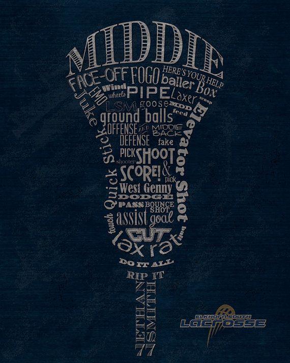 Custom Lacrosse Middie Midfielder Word Art by ShaunaSmithDesigns
