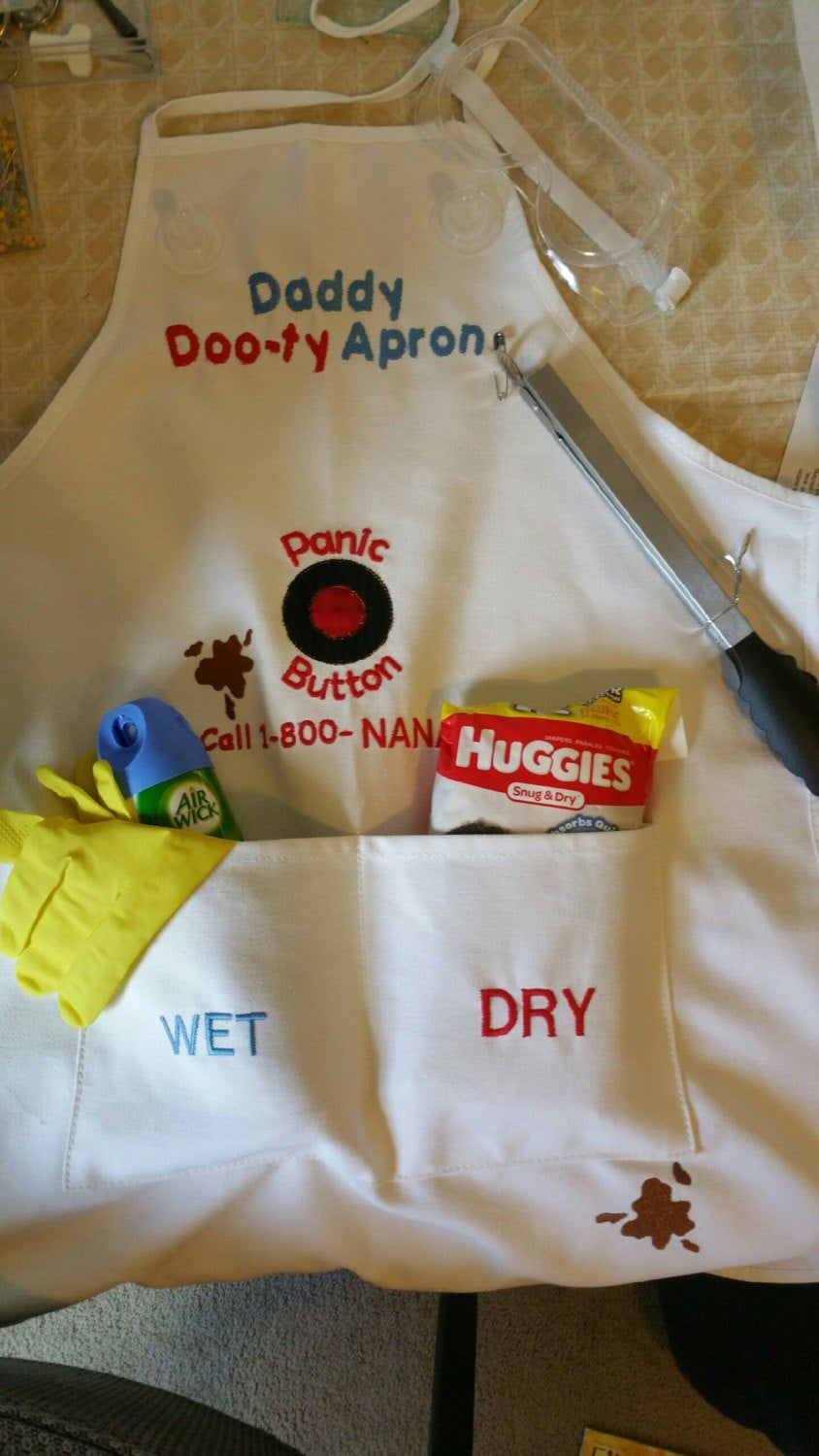 Embroidered Daddy Dooty Duty Apron Perfect for new Etsy