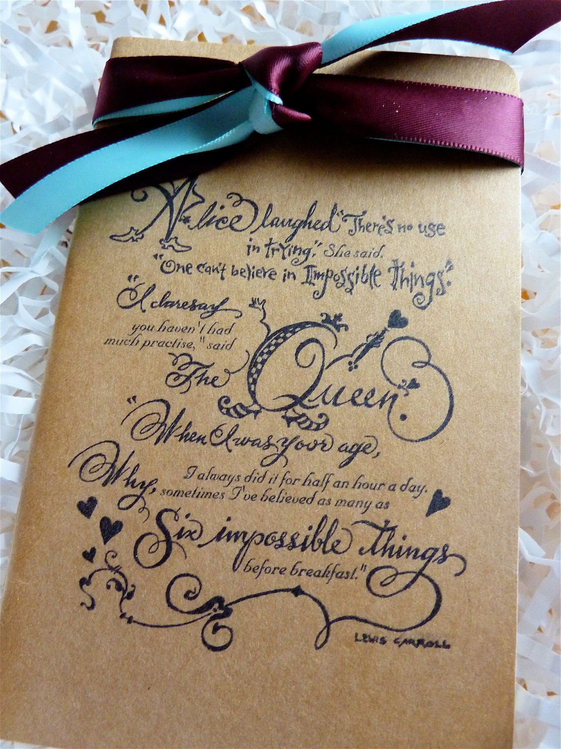 Quotes Journal Alice In Wonderland Rare Quotes Altered Moleskine Journalnotebook
