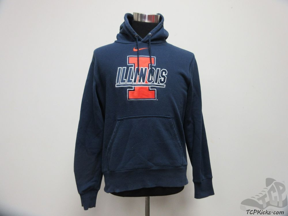 Nike Illinois Fighting Illini Hoody Sweatshirt sz M Medium SEWN Chief University #Nike #IllinoisFightingIllini #tcpkickz