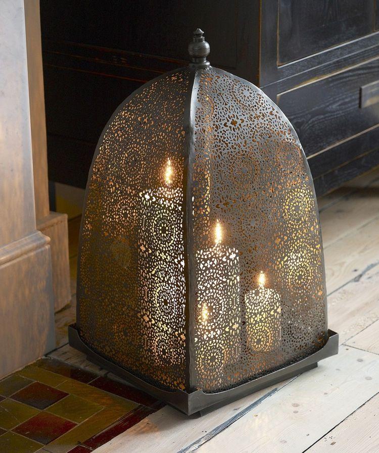 Orientalische Lampen Bodenlampe Muster Fein Kerzen Laterne Ornamente Locher Orientalische Lampen Orientalische Stehlampen Orientalisch