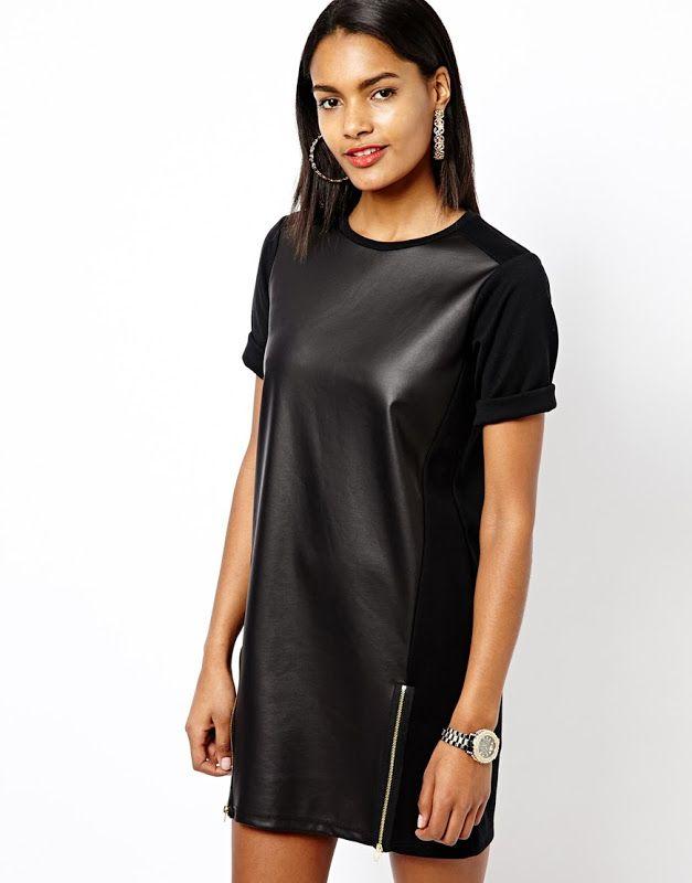 Кожаное платье - как выбрать, с чем носить и где купить