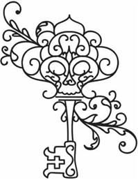 Skeleton Key Love This Coloring Pages Key Tattoos Embroidery