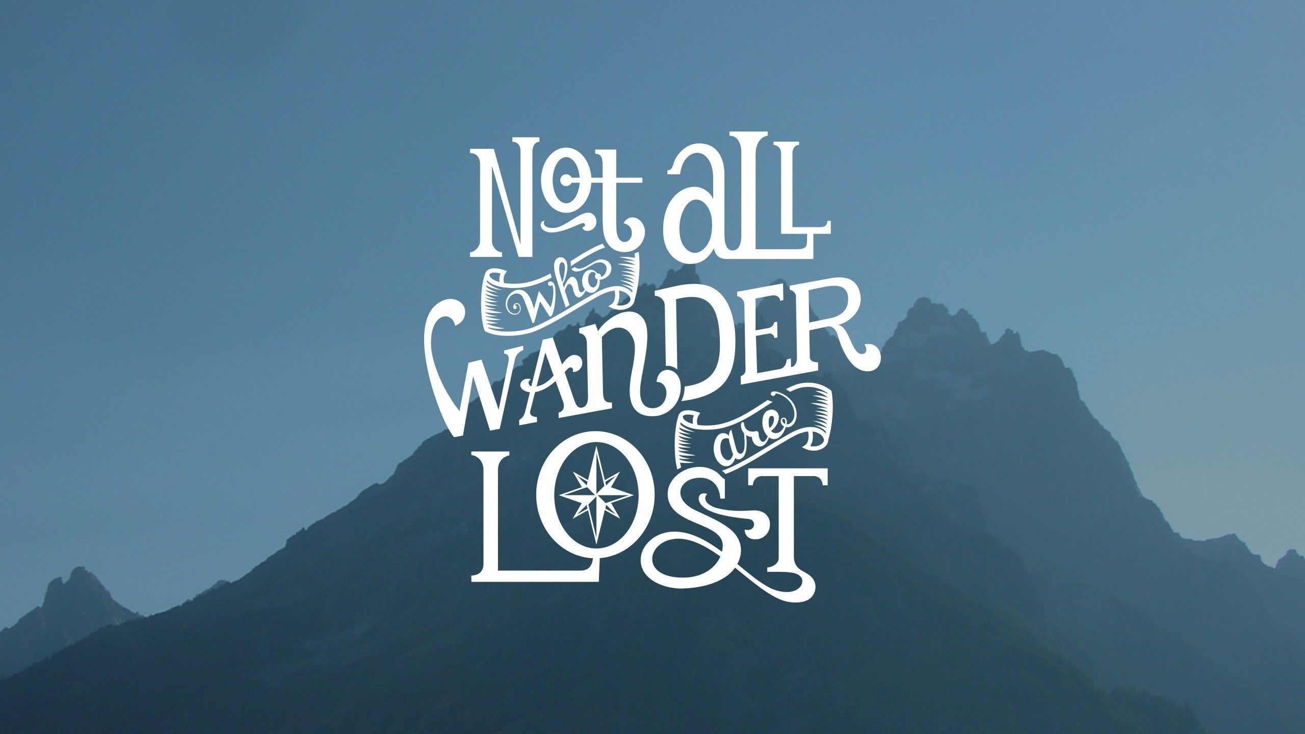 Simple Simple Background Blue Mountain Quote J R R Tolkien