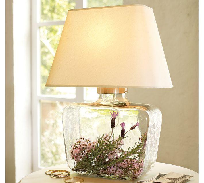 7 Fillable Glass Lamp Ideas Id Lights Diy Table Lamp Lamp Decor Fillable Lamp