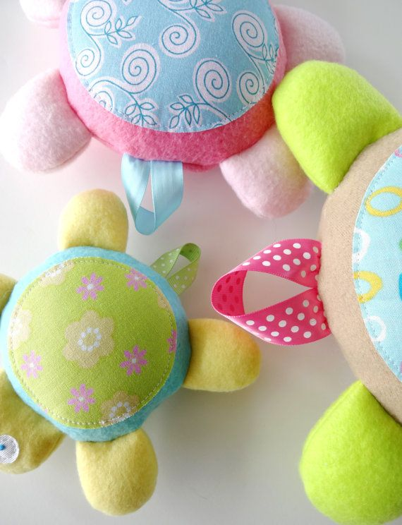 Baby Turtle Softies Toy Sewing Pattern - PDF ePATTERN | Turtle ...