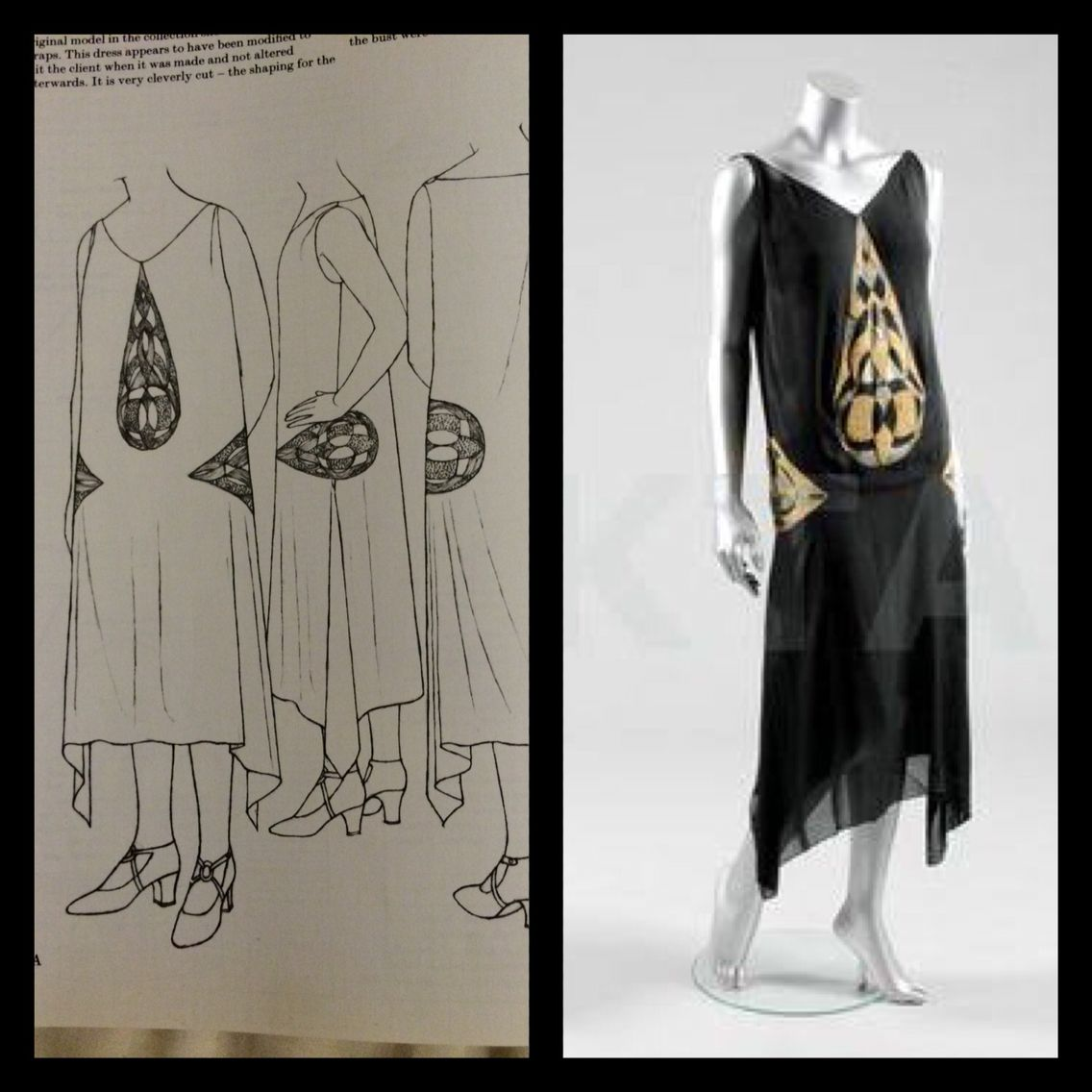 1925 Evening dress by Madeleine Vionnet, from Janet Arnold ...