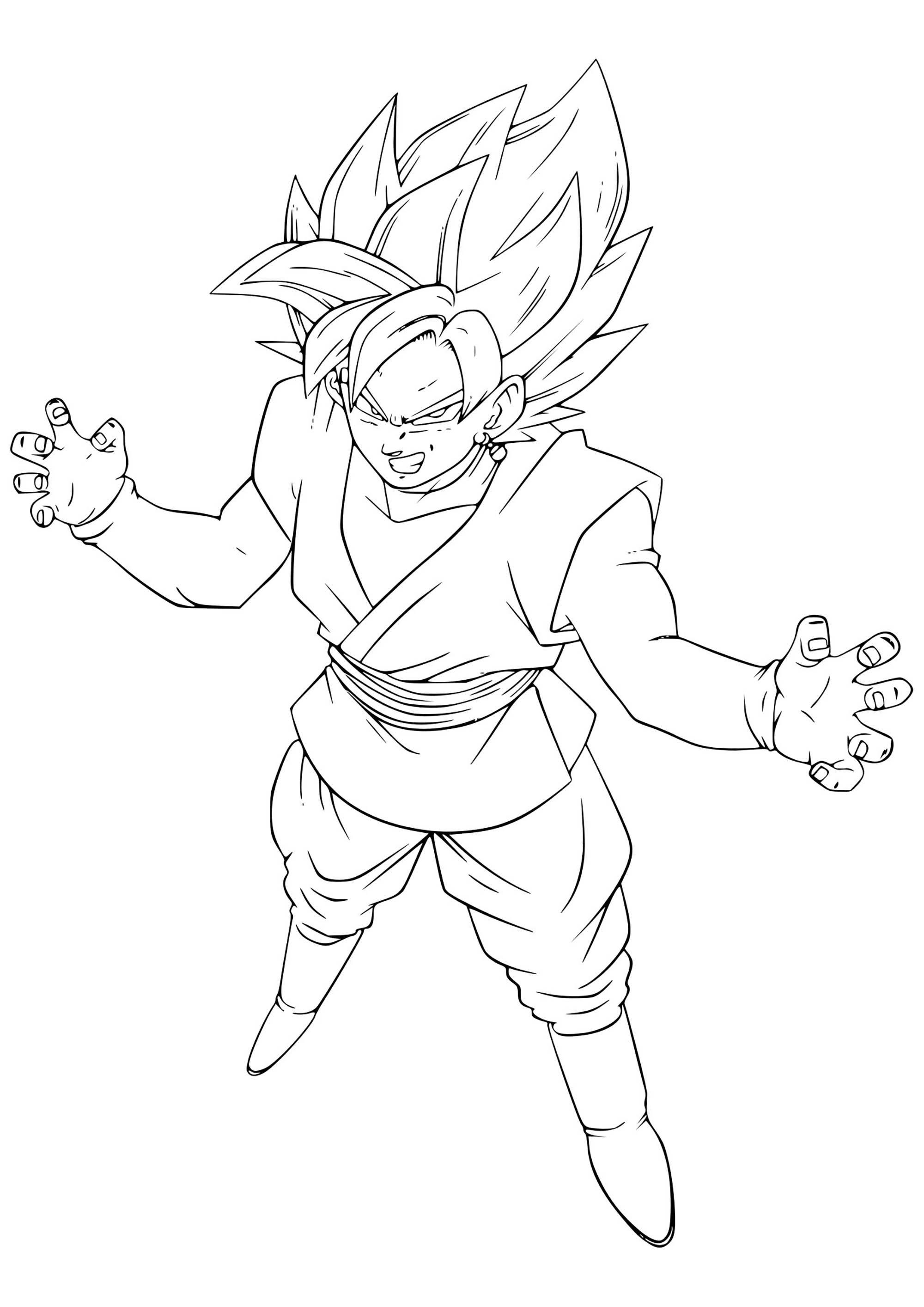 Goku Coloring Pages Coloring Pages Black Pink Goku Dragon
