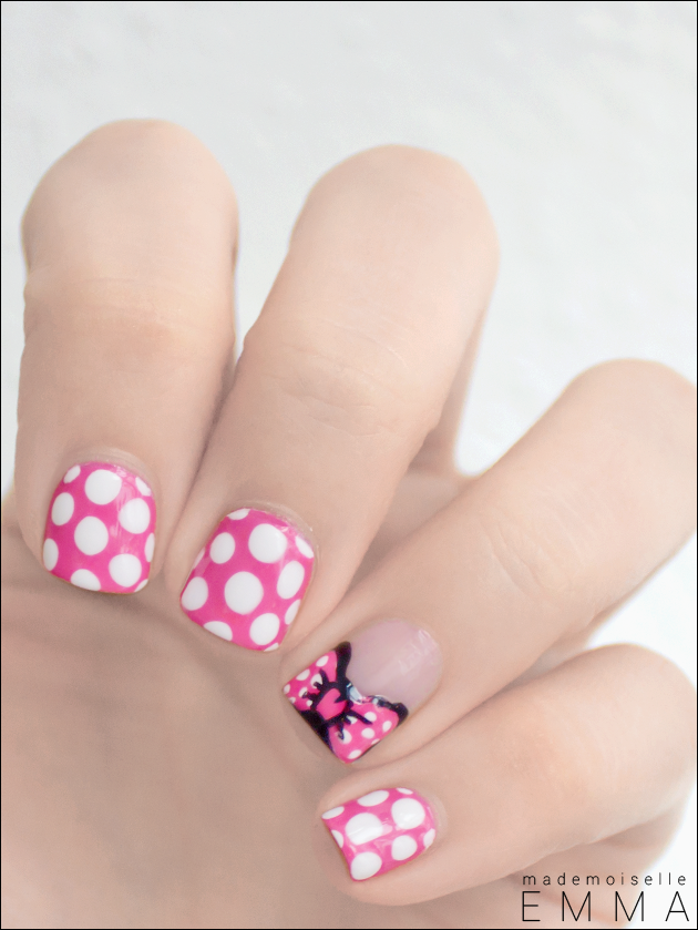 Minnie nails | Disney!! | Pinterest | Diseños de uñas, Decoración de ...