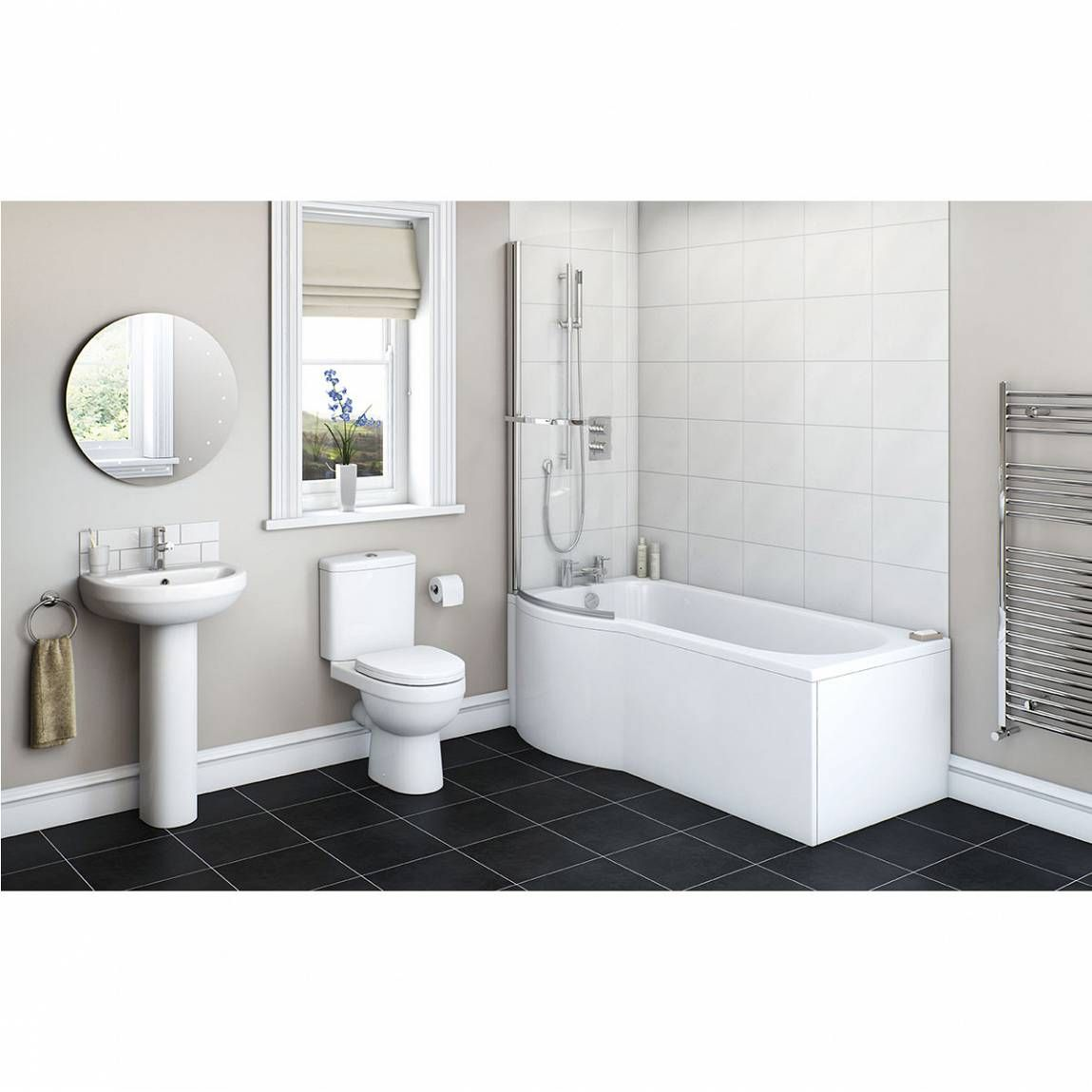 Plumbs bathroom suites - Energy Bathroom Suite With Evesham 1700 X 850 Shower Bath Lh Victoria Plumb