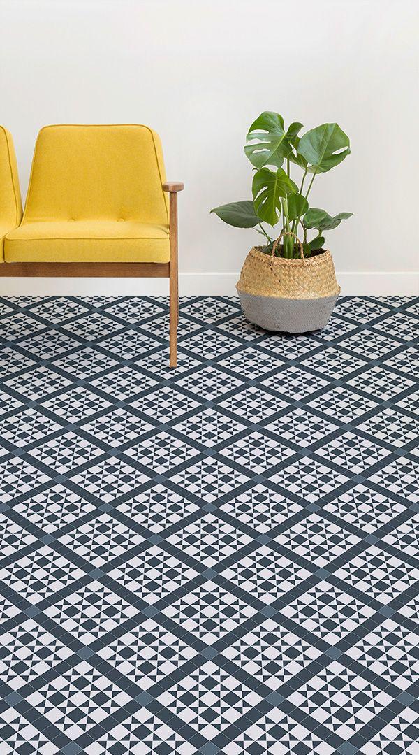 Traditional Victorian Tile Vinyl Flooring Victorian